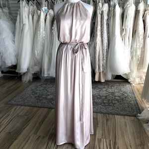 High Neck Metallic Neutral Gown Alfred Angelo